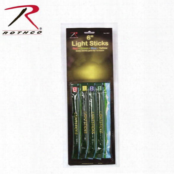 "Rothco (4/pk) 6"" Chemical Lightsticks, 12 Hour - Green - Unisex - Included"