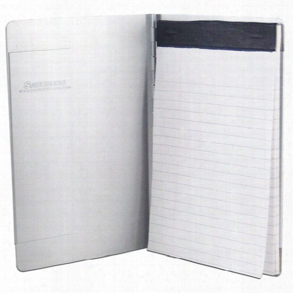 Saunders Padfolio W/writing Pad, Silver Aluminum, 8.5 X 12 (letter) - Silver - Unisex - Included