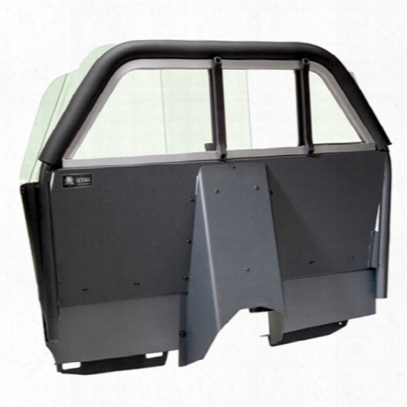 Setina Partition, Lexan W/recessed Panel, Airbag Compatilbe For Chevy Caprice 2011 - Clear - Unisex - Excluded