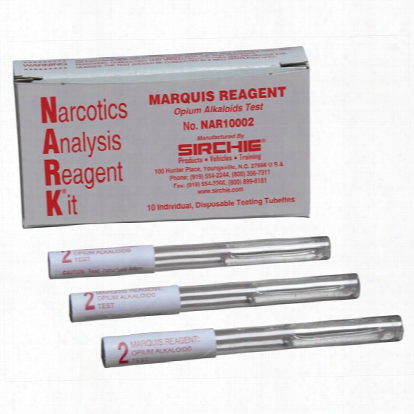 Sirchie Nark Drug Test Pouch Narcotic Alkaloids 10/box - Unisex - Included