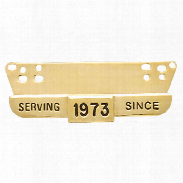 Smith & Warren Serving Since Hanger Bar, Gold - Gold - Male - Included