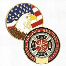 Blackinton Thin Red Line Challenge Coin - Red - male - Included