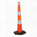 "Lakeside Plastics 42"" Divertor Chanelling Cone with Handle and High Intensity Prismatic Tape, 10lb base - Orange - Unisex - Excluded"