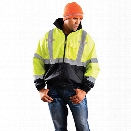 Occunomix Economy Bomber Jacket w/Removable liner, Yellow, 2X-Large - Silver - male - Included