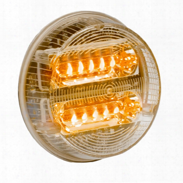 "Whelen 3.5"" Round Super-led® Lightheads W/ Synchronize Feature, Amber Warning - Clear - Unisex - Excluded"