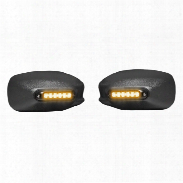 Whelen Mirror-beam™ Mirror Mounted Super-led® Series Lightheads For 2011-current Dodge Charger, 1 Pair, Amber/amber - Black - Unisex - Excluded