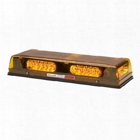 Whelen Responder® Lp Series Mini Lightbar W/ Six Lin6™ Super-led® Modules, Permanent Mount, Amber  Unisex - Excluded
