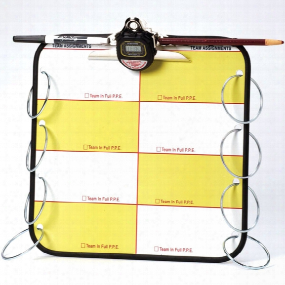 American Trade Mark Accountability Tag Standard Command Board W/ Stopwatch, Clipboard Clip, Dry-erase Marker & Grease Pencil, W/o Clock - Tan - Male - Included