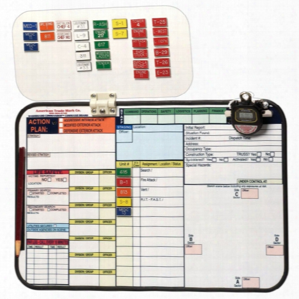 American Trade Mark Dashboard Commander Incident Command System - Male - Included
