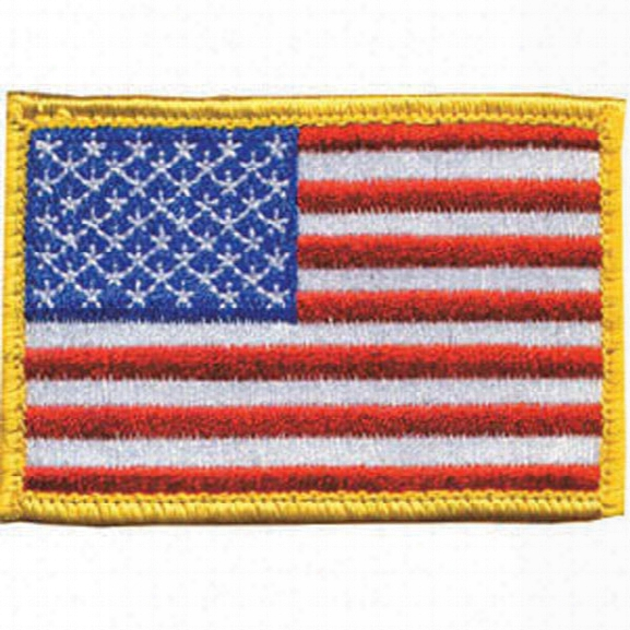 "Blackhawk 2"" X 3"" Patch W/ Hook-and-loop & American Flag, Red/white/blue - Green - Male - Included"