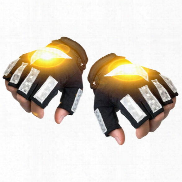 Brite-strike Active Illumination Reflective™ Sport Gloves W/ 4 Led Light Strips, Large - Male - Included