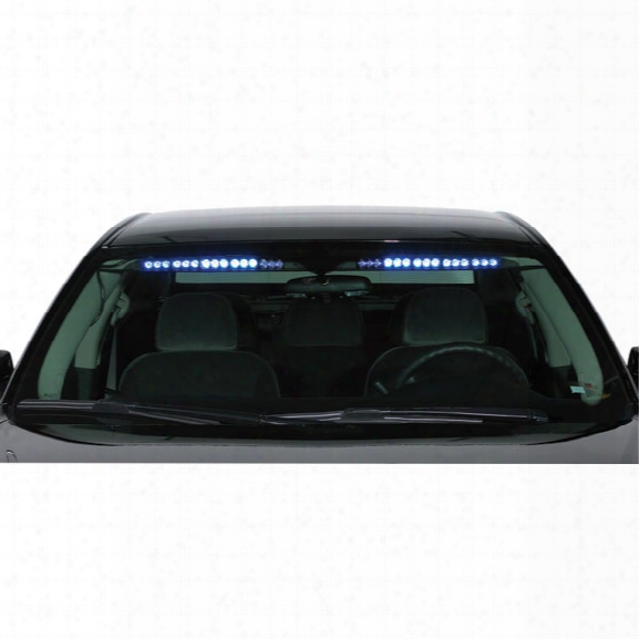Code 3 Supervisor Led Interior Stealth Lighting System, 4 Code 3 Optix, 2 Led X Modules W/ Takedown Lights, Blue/blue, Crown Vic 2003-2004 - Blue - Male - Exclu