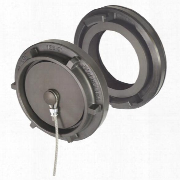 "Kochek Standard Style Hydrant Converter W/cap, 4"" Stz Metalface X 4 1/2"" Nhf - Grey - Female - Included"