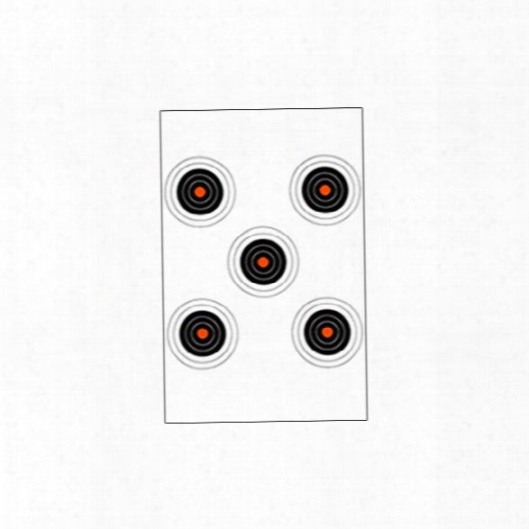 Law Enforcement Taargets Si-5 Bullseye Target, 25/pk - Orange - Unisex - Included