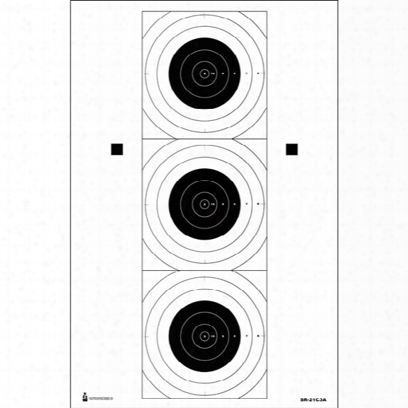 Law Enforcement Targets Sr-21c3a Bullseye Target, 25/pk - Black - Unisex - Included