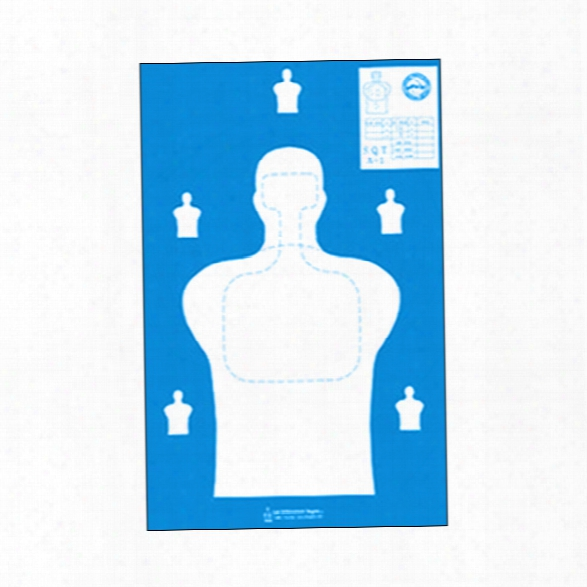 Law Enforcement Targets State Of Georgia Paper Target, Blue, 25/pk - Blue - Unisex - Included