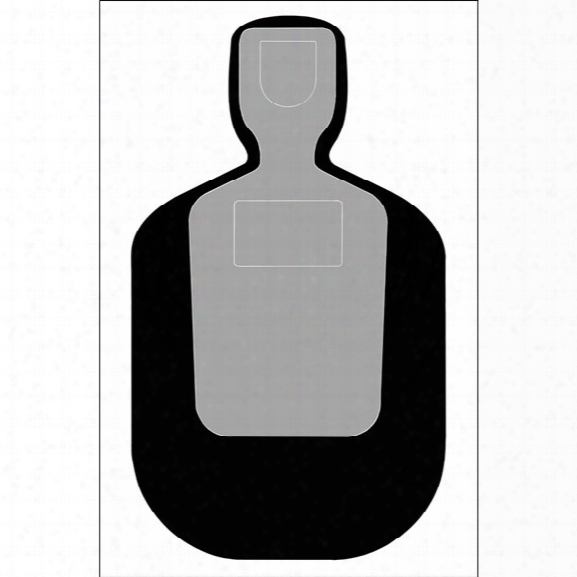 Law Enforcement Targets Tq-19 Standard Target, 25-yard Silhouette, Black, 25/pk - Black - Unisex - Included