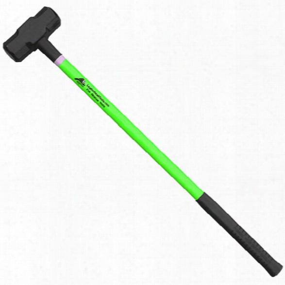 "Leatherhead Tools Sledge Hammer 10lb, 36"" Handle W/ Reflective Tape, Hiviz Lime - Lime - Unisex - Included"