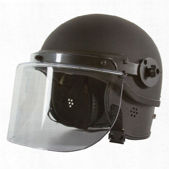 Monadnock Tr1000 Non-ballistic Riot Helmet W/face Shield, Universal - Clear - Unisex - Included