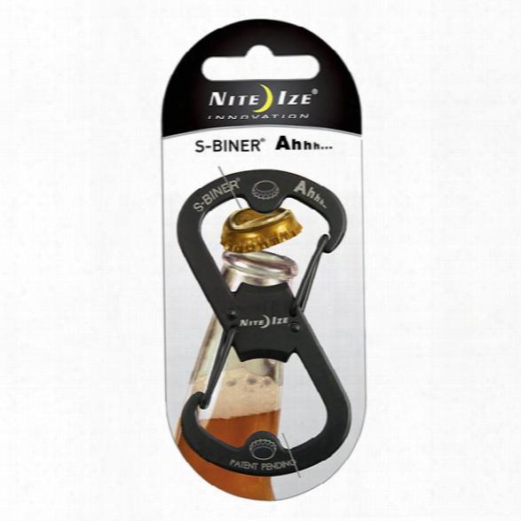 Nite Ize S-biner® Ahhh...™ Carabiner / Bottle Opener - Black - Male - Included