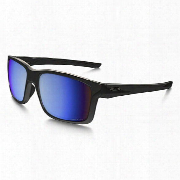 Oakley Mainlink, Polished Black, Prizm Deep Water Polarized Lenses - Black - Male - Included