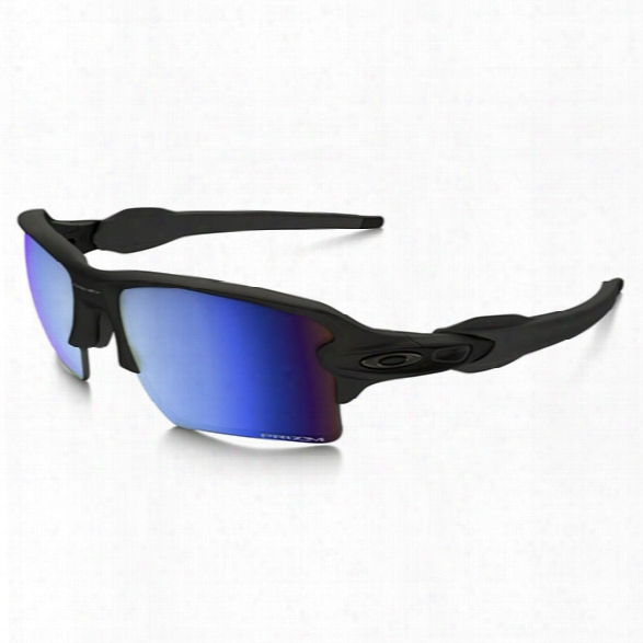 Oakley Si Flak 2.0 Xl, Matte Black, Prizm Deep Water Polarized Lenses - Blue - Male - Included