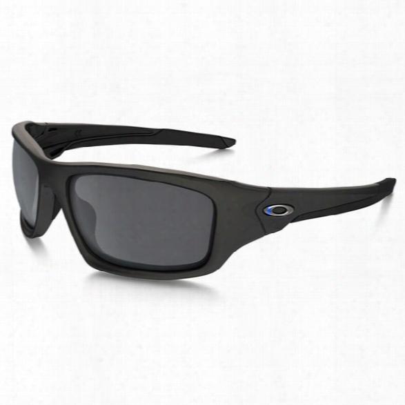 Oakley Si Valve Thin Blue Line, Blue-black / Black Iridium - Blue - Female - Included