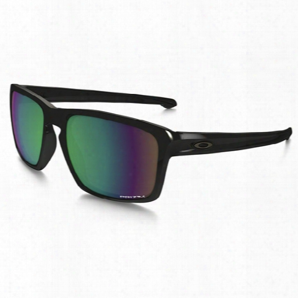 Oakley Sliver, Polished Black, Prizm Shallow Water Polarized Lenses - Blue - Male - Included