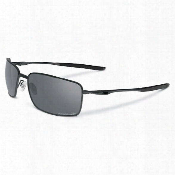 Oakley Square Wire, Carbon / Grey Polarized - Carbon - Male - Included