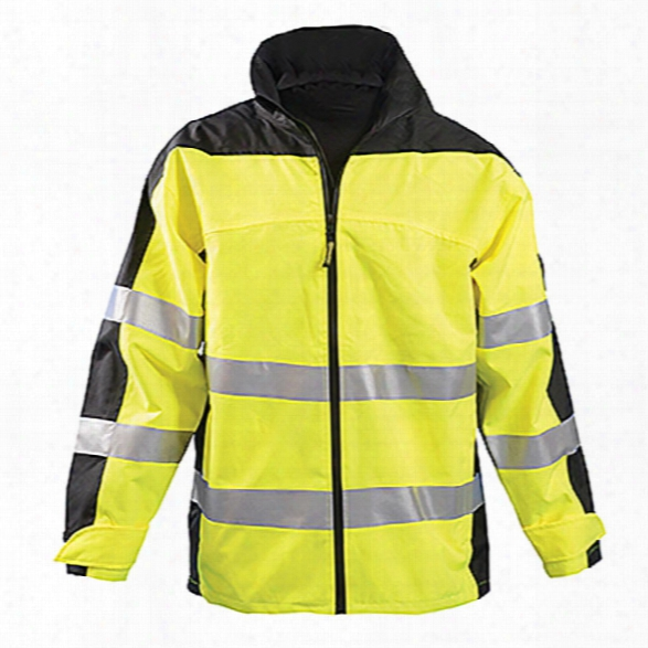Occunomix Class 3 Speed Collection Preemium Rain Jacket, Yellow, 2x-large - Yellow - Unisex - Included