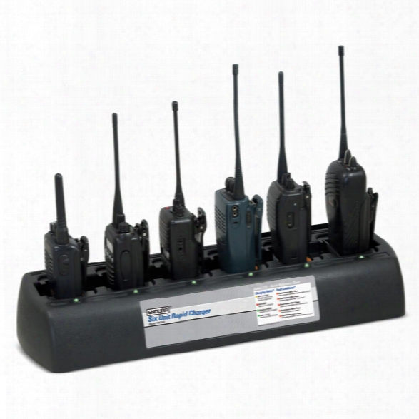 Power Products Endura 6-unit Charger For Relm / Bk Kng Series With Pods - Male - Included