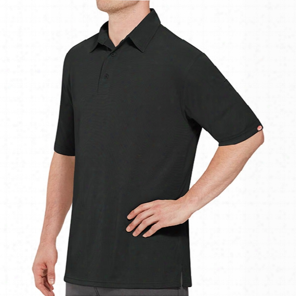 Red Kap Male Professional Polo, Black, 2x - Red - Male - Included