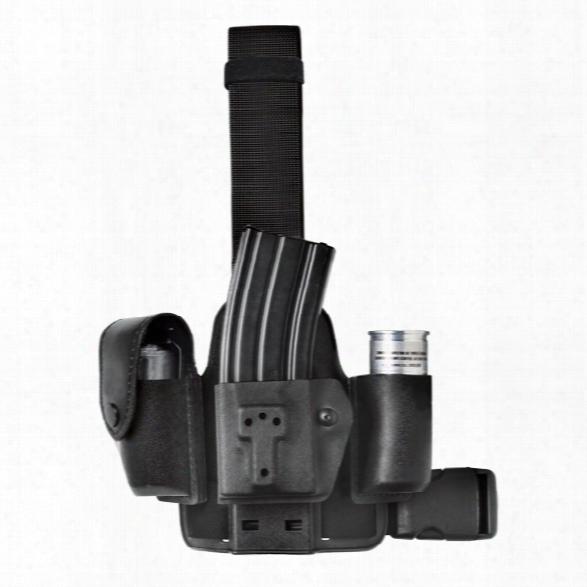 Safariland 6004-10 Single Strap Leg Shroud Stx Plain Black - Black - Unisex - Included