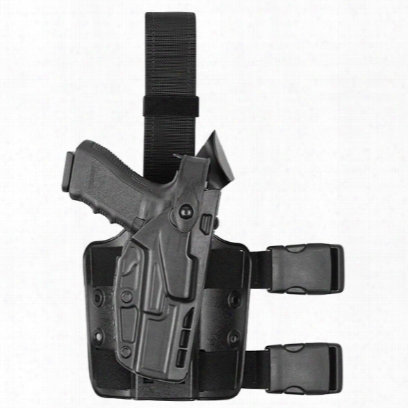 Safariland 7304 7ts Tactical Holster, Plain Black, Rh, Glock 19 23 With Iti M3, Tlr-1, Surefire X200/x300/x300u - Clear - Male - Included