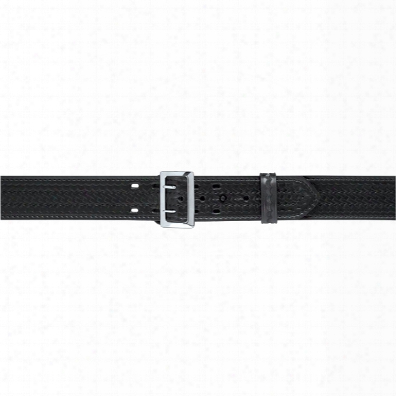 "Safariland 87 Suede Lined Duty Belt 2.25, Nylon Look, Chrome Buckle, 28"" - Chrome - Unisex - Included"