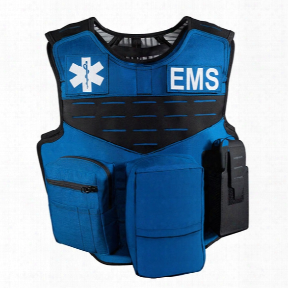 Safariland Body Armor V1 Ems Carrier, Fixed Pockets, Royal Blue (specify Size) - Blue - Male - Included