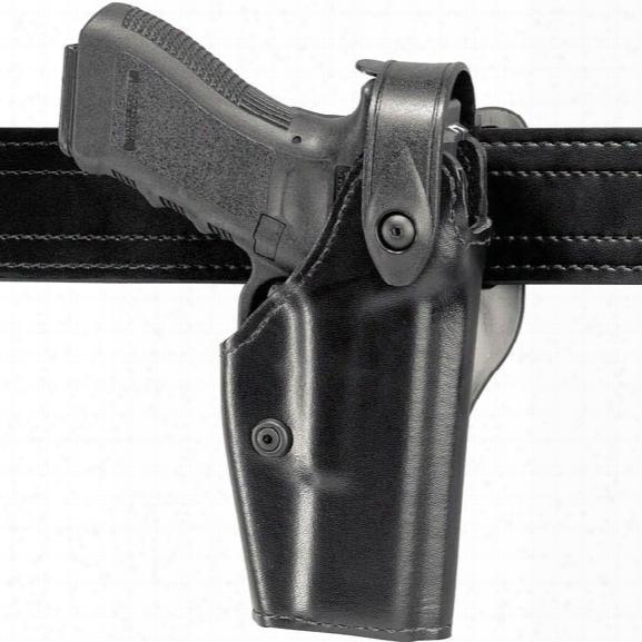 Safariland Mid-ride Gun/taser Holster, Retention, Level 2, Black, Plain Black, Right-handed, S&w K Frame - Black - Unisex - Included