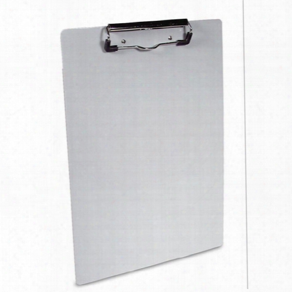 Saunders Recycled Aluminum Clipboard - 8-1/2 Inch X 12 Inch Form Size - Silver - Male - Included