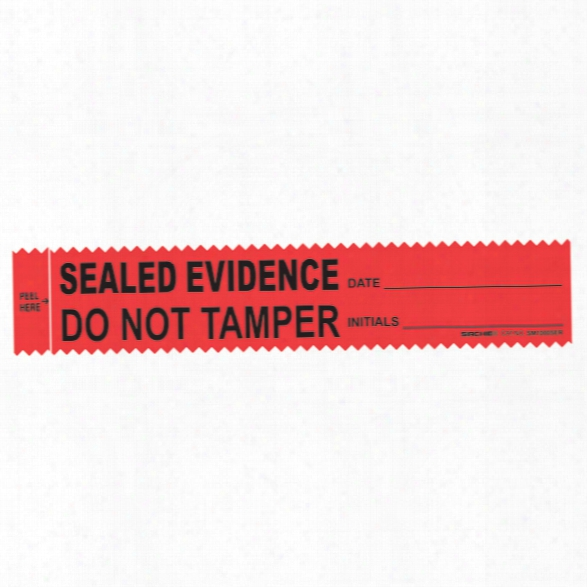 Sirchie Evidence Strips With Sealed Evidence Legend, 1-3/8 In. X 7 In., Red, 100 Per Pack - Red - Unisex - Included