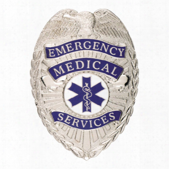 Smith & Warren Emergency Medical Services Tear Drop Badge, Gold - Gold - Male - Included