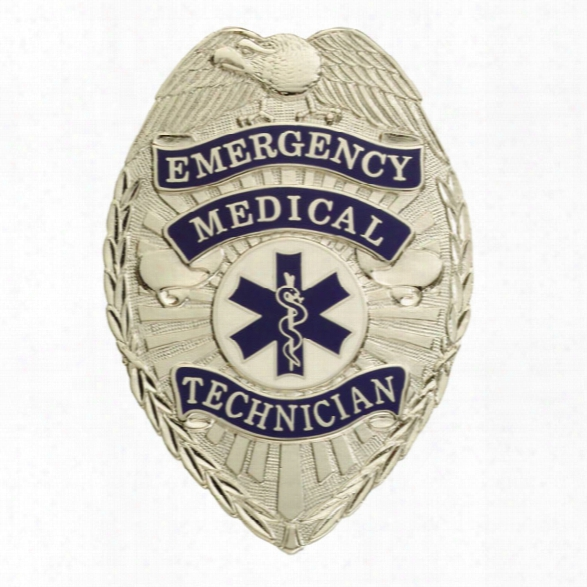 Smith & Warren Emergency Medical Technician Tear Drop Badge, Gold - Gold - Male - Included