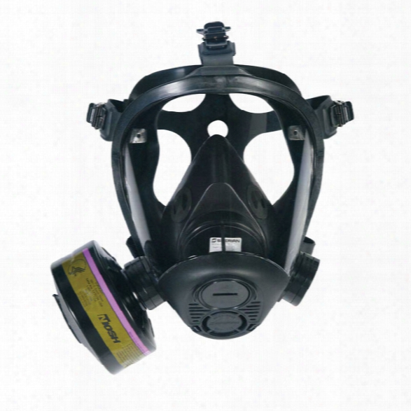 Sperian Survivair Opti-fit Tactical Gas Mask, Small - Clear - Male - Included
