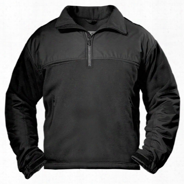 Spiewak Quarter Zip Performance Fleece Job Shirt, Black, 2x-large Long - Black - Male - Included