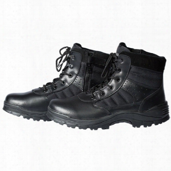 "Tact Squad 6"" Sentry Side-zip Boots, Black, 10.5 Medium - Black - Male - Included"