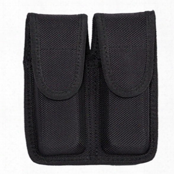 Tact Squad Double Mag Case, 10mm/45. (stacked), Black - Black - Unisex - Included
