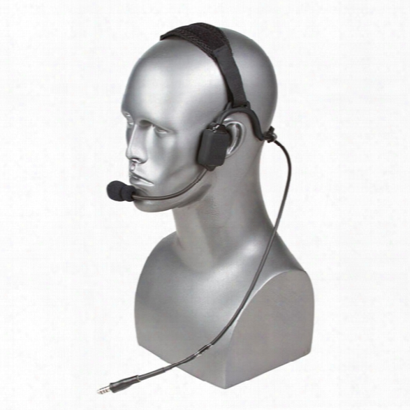 Tci Tabc Iii Headset, Single Comm, Bth, Left Mic, Black, For Motorola Xts Series - Black - Male - Included