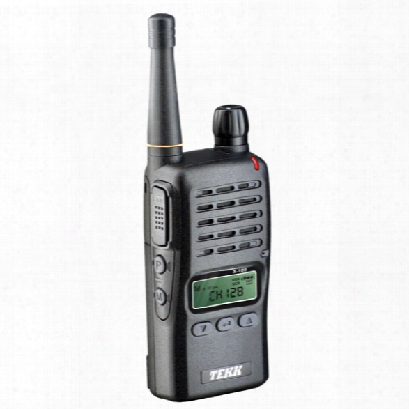 Tekk X-100 Radio, 2-watt, 128 Channels W/ Battery, Charger, Clip & Numeric Readout - Male - Included