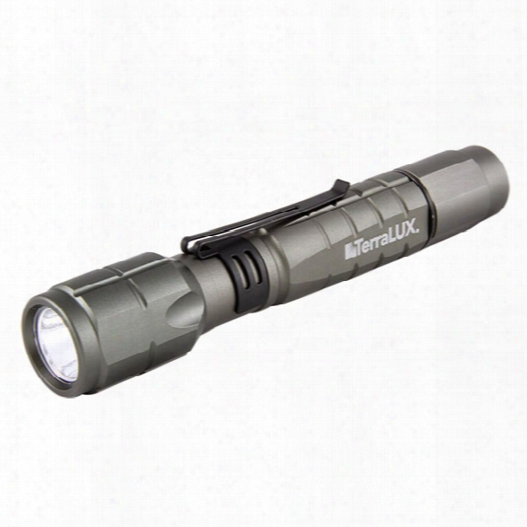Terralux Lightstar 300, Hi 300/ Lo 100 Lumens, Led, 2 Aa, Titanium Grey - Grey - Male - Included