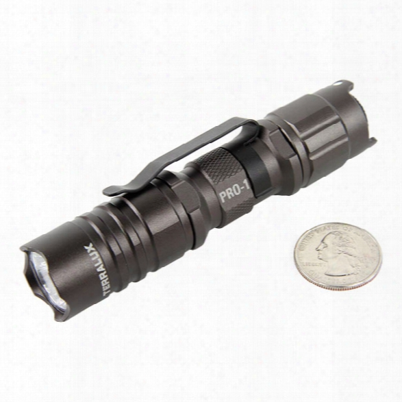 Terralux Pro 1 Led Flashlighf, 154 Lumens, Hi/lo/strobe - Grey - Orange - Male - Included