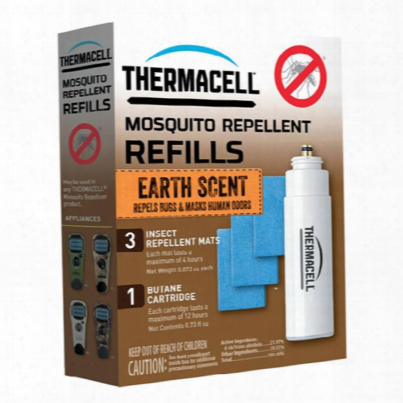 Thermacell Mosquito Repellent, Refill W/ Earth Scent, 12 Hours - Brown - Unisex - Included